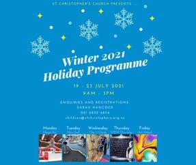 Children's Holiday Programme – Winter Term Break 2021!